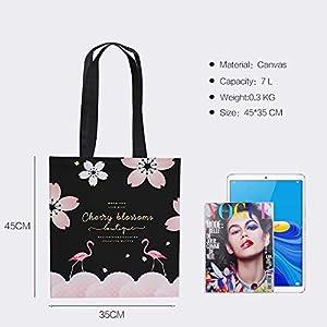 41rAymdOkxL. SS300  - FANDARE Mujeres Bolsa Compra Plegable Bolsa de Viaje Shopping Bag Bolsa de Lona para Compras Bolsas de Supermercado…