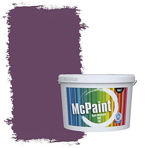 McPaint Bunte Wandfarbe Pflaume - 10 Liter - Weitere Violette Farbtöne Erhältlich - Weitere Größen Verfügbar