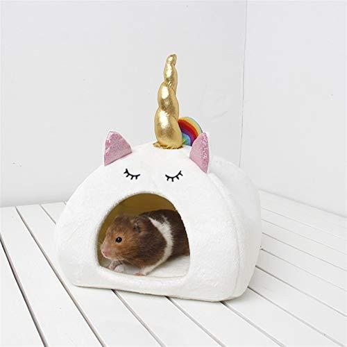 HCO-YU Hamster Cama Cueva Saco De Dormir Small Animal House Cobayas Hamsters...