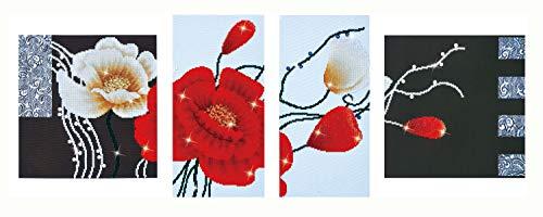 Diamond Dotz Schilderij Kit: Art Deco Poppies, Gesorteerd, 142x50cm