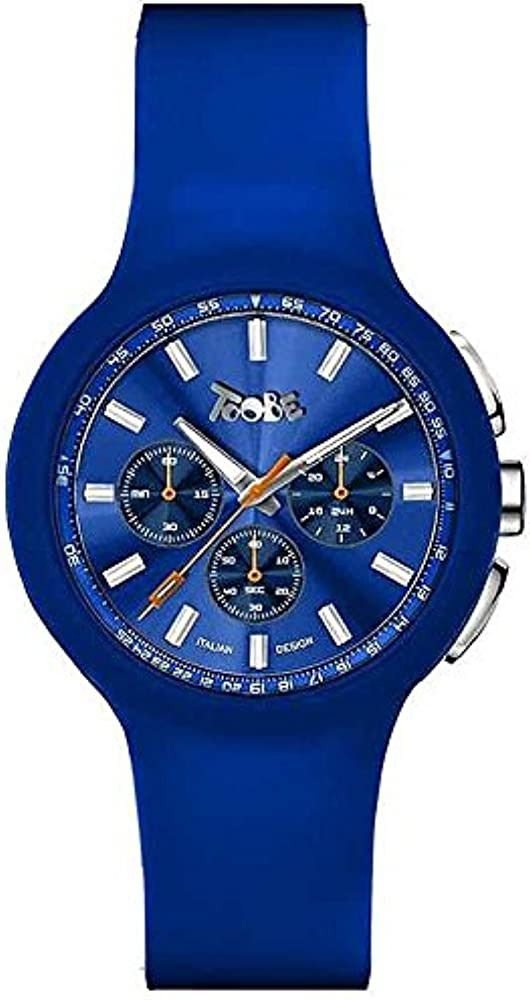 Boccadamo, orologio, cronografo per uomo, cassa interna: metallo, fondello in acciaio,cinturino in silicone BM006