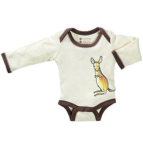 Product Image of the Babysoy Newborn Organic Long Sleeve Animal Print Bodysuit Onesie Romper