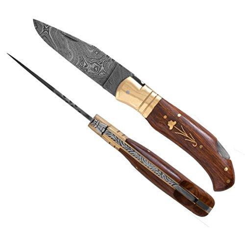 5282 Laguiole Handwerker hervorragende Damaskus Stahl Rosewood knochengriff. Camping Messer, Puli Damaststahl Messer, Fischmesser, Taschenmesser