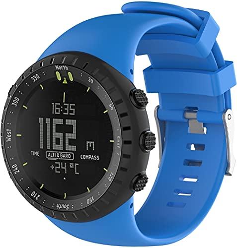 Chainfo Correa de Reloj Compatible con Suunto Core All Black, Impermeable Reemplazo Correas Reloj Silicona Banda (Pattern 6)