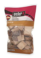 Pecan wood chunks Provides a rich & Sweet flavor Use with fish, Port, poultry, lamb, & beef 350 cu. in. (0.006 m^3) sized bag