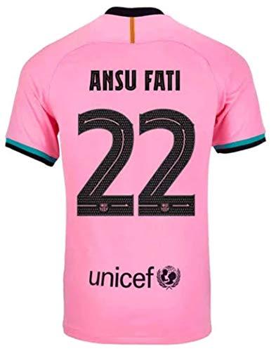 2020-2021 Season Men's Third Soccer Jersey/Short Colour Pink (Barcelona Fati #22 (M))