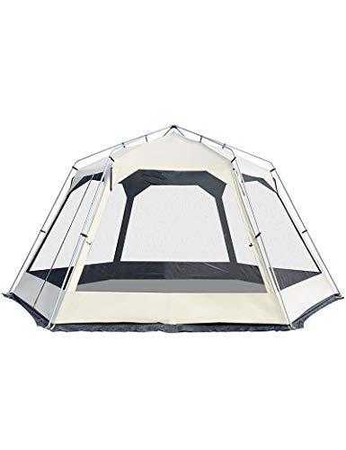 HJQZP888 Tienda, Pérgola De Salón Grande, Pérgola Hexagonal A Prueba De Viento Y Transpirable con Protección UV, Tienda para 10 Personas (Color : White)