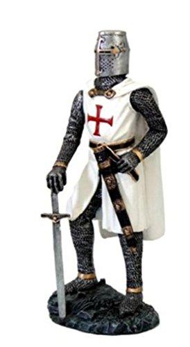 Vogler Tempelritter mit Schwert Figur Templer Ritter Deko Skulptur