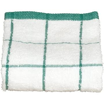 Kitchen Towel Philadelphia Mall 15x25 White with of Check 12-718459 Tampa Mall Green Package