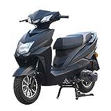 Scooter ciclomotor de 125cc Scooter de Motocicleta Scooter ciclomotor de Gas, Scooter Legal de Calle Totalmente automático, Velocidad 80 km/h,Negro