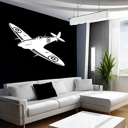 Ww2 vliegtuigen vliegtuig vliegtuig sticker muur kunst sticker Britse vechter www2 88 * 57 cm