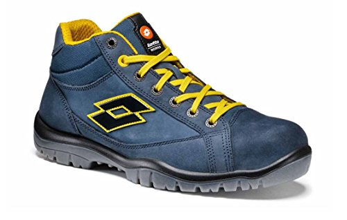 SCARPA ANTINFORTUNISTICA LOTTO JUMP 900 MID - S3 SRC - COL. AVIATOR BLUE/YELLOW - ART. R7014 - NR. 44