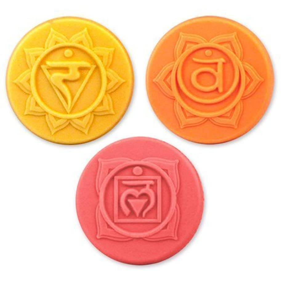 Milky Way Chakras 3 Soap Molds - Clear PVC - Not Silicone