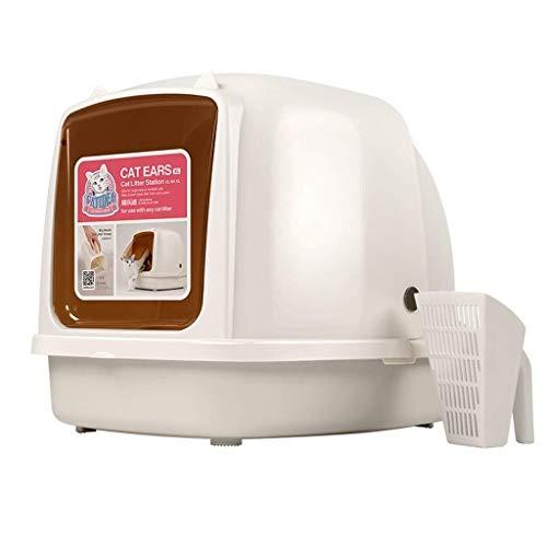 Kaper Go Caja de Arena for Gatos Jumbo, baño portátil for Mascotas Petlife, Nido de Gato Encapuchado, Bandeja de Basura de Resina PP, Desodorante Caja de Gato Completamente Cerrada, for ollas for Uso