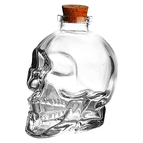 Carafe à décanter à liqueur en forme de crâne, bouteille de vase créative, bouteille de vin, bouteille de whisky, carafe de vin, carafe de vin en verre, bouteilles en verre de 750 ml,