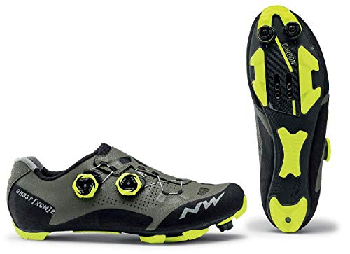 Northwave Ghost XCM 2 MTB Fahrrad Schuhe grÃŒn/schwarz/gelb 2021: Größe: 44