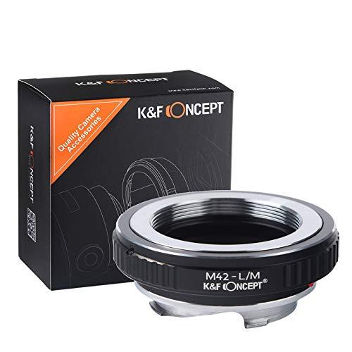 K&F Concept レンズマウントアダプター KF-42M (M42マウントレンズ → ライカMマウント変換)