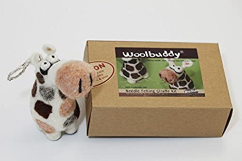 Woolbuddy Needle Felting Giraffe Kit by Woolbuddy