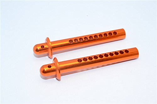 GPM Axial Yeti XL Monster Buggy Upgrade Parts Aluminum Front Body Post - 1Pr Orange