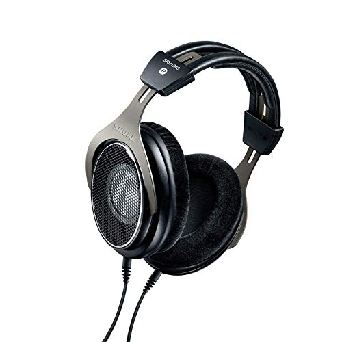 Shure SRH1840 Professional Open-Back Premium Headphones, Natural Sound with Smooth, Extended High-End and Accurate Bass, Wide Stereo Image, Individually Matched Drivers, Black/Silver