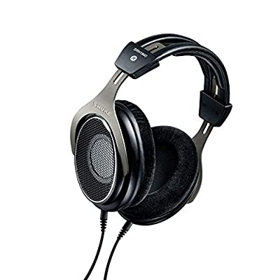 Shure Professional Open-Back Premium Headphones, Natural Sound with Smooth, Extended High-End and Accurate Bass, Wide Stereo Image, Individually Matched Drivers, Black/Silver