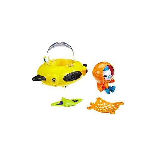 Mattel T7015 - Fisher-Price Die Oktonauten Guppy-Boot, Guppy-D und Käpt'n Barnius, mit Farbwechsel