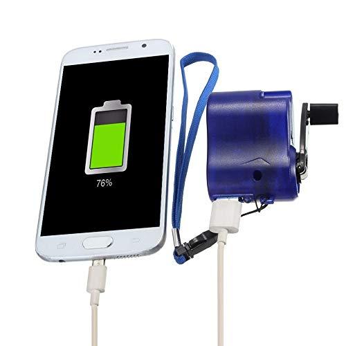 Caricatore USB Portatile di Emergenza All'aperto del Generatore della Dinamo A Manovella A Mano per Il Caricatore di Viaggio della Macchina Fotografica del Telefono Cellulare
