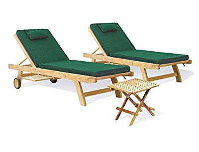 Teak Sun Loungers with Picnic Table set OGD012