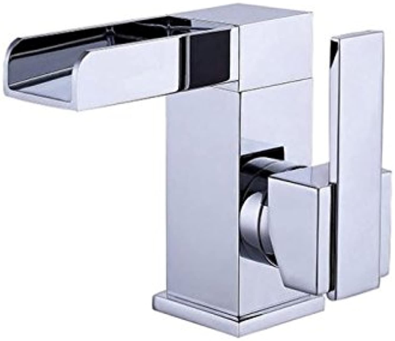 FEN Square waterfall single handle face plate faucet high grade chrome bathroom bathroom faucet