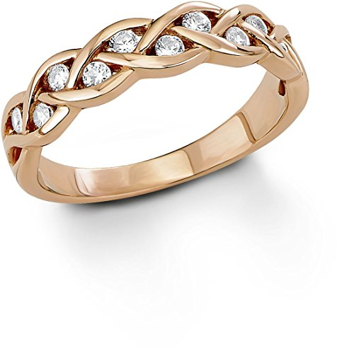 s.Oliver Jewel Damen-Ring 925 roségold Gr. 52 (16.6) 463874