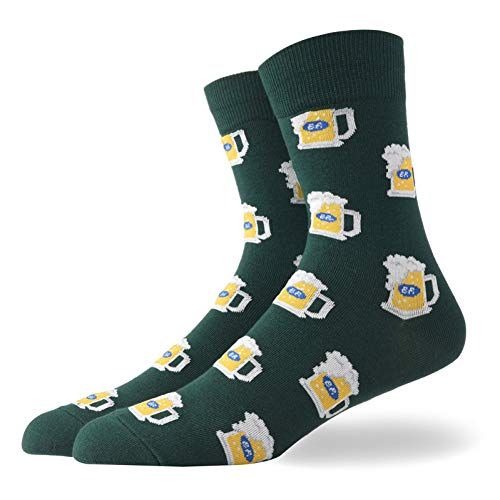 DYCZWZ Freizeit Sport Socken 2 Paare Herren Happy Socks Herren Eier Bananenbier Flake Print Street Wear Herrensocken
