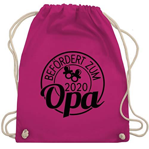 Shirtracer Opa - Befördert zum Opa 2020 Kreis - schwarz - Unisize - Fuchsia - Befördert zum Opa seit 2020 - WM110 - Turnbeutel und Stoffbeutel aus Baumwolle