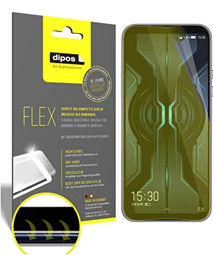 dipos I 2X Schutzfolie 100prozent passend für Xiaomi Black Shark 2 Pro Folie I 3D Full Cover Bildschirmschutzfolie