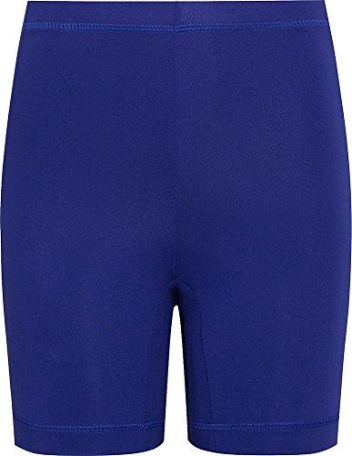 School Uniform Sports Gym PE Lycra Shorts-Royal Blue-Medium