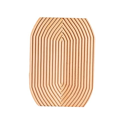 H HILABEE Bandeja de rebanado de madera ondulado para servir, tabla de cortar, organizador de almacenamiento de pasteles, mesa de café, decoración de cocina - Rombo