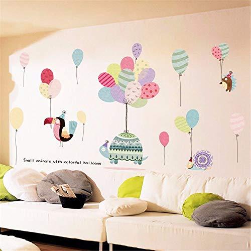 Wandaufkleber Cartoon Kinderzimmer Schlafzimmer Dekorative Aufkleber Bunte Luftballons Selbstklebende Bemalung 60X90Cm