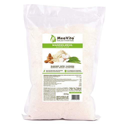 MeaVita Mandelmehl, blanchiert & entölt, 1er Pack (1x 800) im Beutel