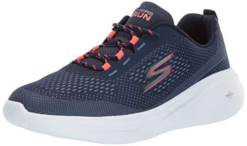 Skechers Women's GO Run FAST-15106 Sneaker, Navy/Coral, 10 M US