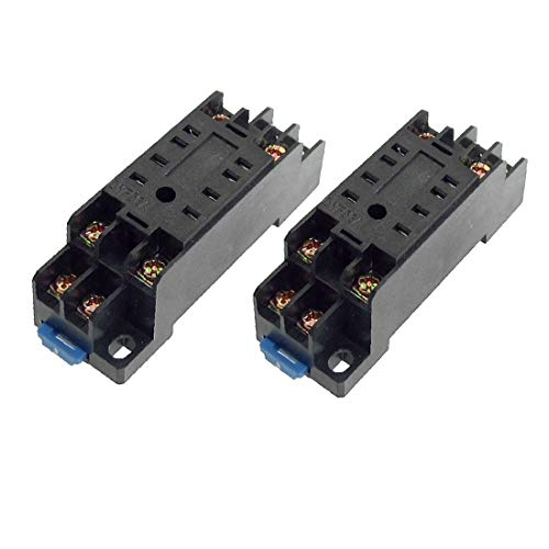 X-Dr 2 Stücke PYF08 35mm Hutschienen-Relaissockel Basis 8 Pins für HH52P MY2NJ (479df2b0b22087dfe052fa58b178f535)