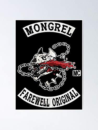 guyfam Days Gone - Mongrel Farewell Original Mc Poster 12x16 Inch No Frame Board for Office Decor, Best Gift Dad Mom Grandmother and Your Friends
