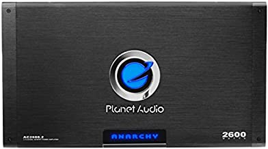Planet Audio AC2600.2 2 Channel Car Amplifier - 2600 Watts, Full Range, Class A/B, 2-4 Ohm Stable, Mosfet Power Supply, Bridgeable