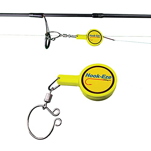 HOOK-EZE Fishing Gear Knot Tying Tool – Line Cutter  Cover Hooks on Fishing Rods Travel Safely  For Freshwater Carp Ice Fishing