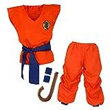 Niños Disfraz Dragonball Son Goku Ropa de Dragon Ball Entrenamiento para niños y jóvenes (M)