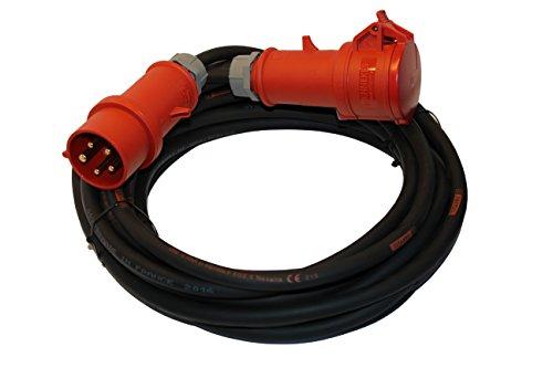 PROFI CEE Starkstrom Verlängerungskabel 5x2,5mm² H07RN-F TITANEX Kabel mit MENNEKES Steckern 32A IP44 (5m)
