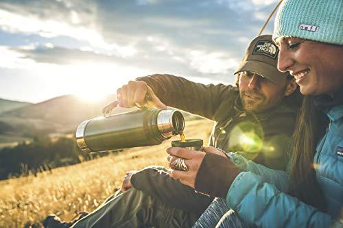Stanley Classic Legendary Bottle 1L / 1.1QT Hammertone Green 2019 – Acier Inoxydable   sans BPA   Maintient la température (Chaud/Froid) Pendant 24h   Couvercle étanche Qui Sert de Tasse   Garantie à Vie
