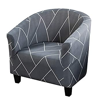 Club Chair Slipcover High Stretch Tub Chair Covers Armchair Sofa Slipcover Soft Spandex Couch Arm Chair Covers Furniture Protector for Bar Counter Living Dining Room  Printed-13