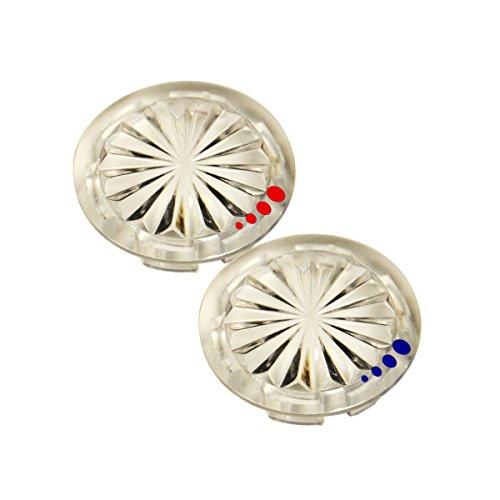 Danco 89958 Index Buttons for Glacier Bay Faucet Handles, Clear