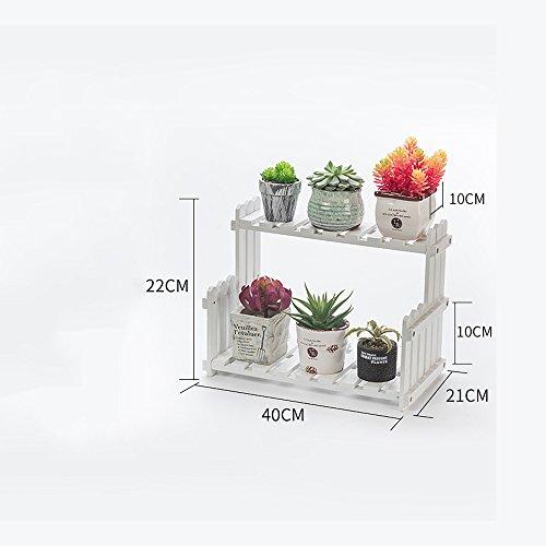 XIAOLIN- Salon Balcon Plancher Multi-étage Fleur Rack Racks en bois massif Étagères intérieures simples (couleur, taille en option) --Cadre de finition de fleurs ( Couleur : Blanc , taille : 40 cm )