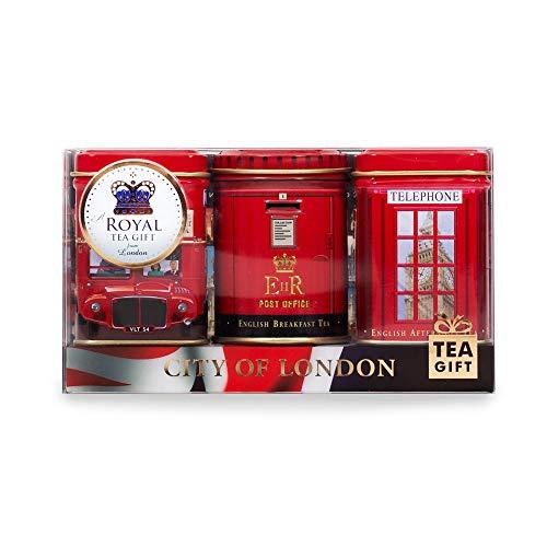 Exlusive englischen Tees - City of London, 3 x 25g Mini Dosen Tea Selection-Pack