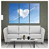 Empty Pinturas en Lienzo Hogar Moderno Decoración de la Pared Lienzo Arte Imagen Impresión Pintura en 3 Piezas Nube Corazón Amor Arte en Lienzo Sin Marco-50x70cm Sin Marco